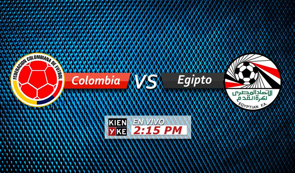 Selección Colombia vs Egipto
