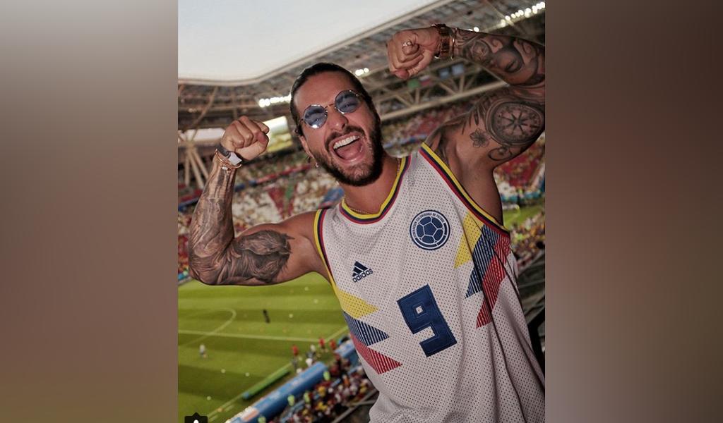Los excesos de Maluma tras el triunfo de Colombia