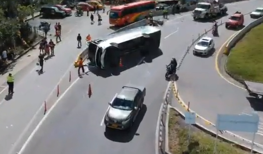 Accidente en las vía Bogotá-Villeta