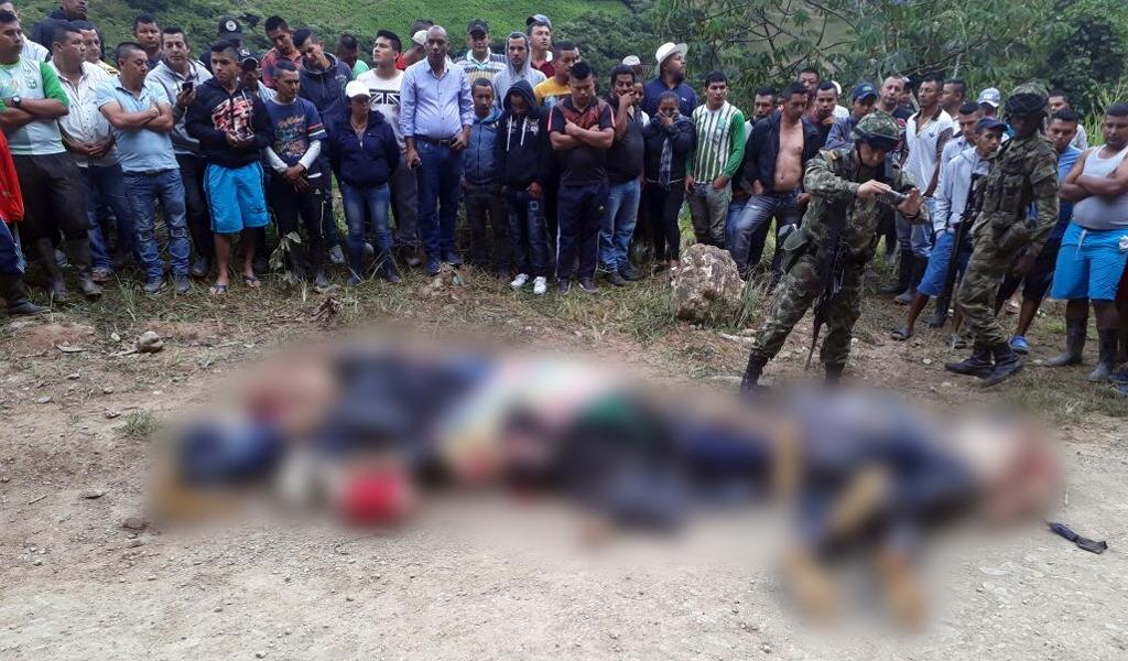 Disidentes de las Farc entre víctimas de masacre en Cauca