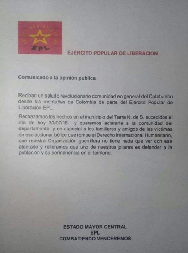 Comunicado EPL