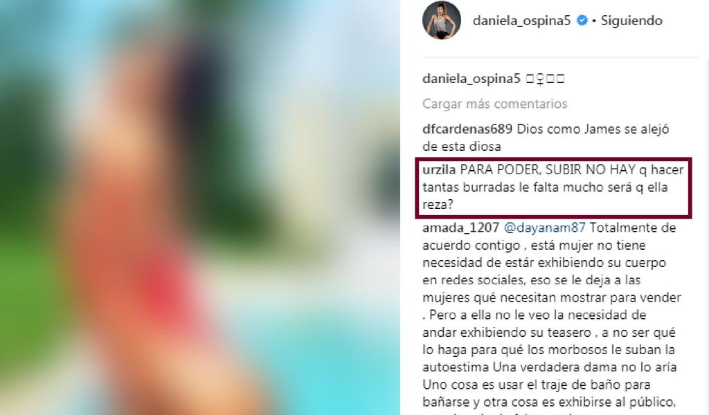 daniela ospina instagram criticas