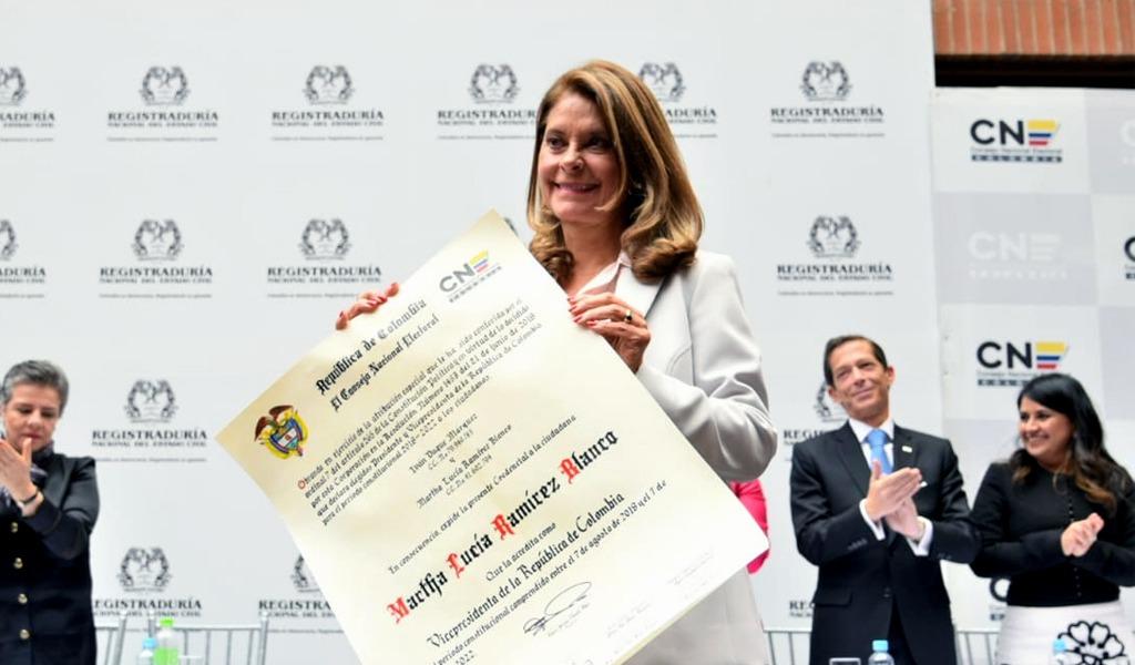 Mujeres, la palabra clave del discurso de Marta Lucía
