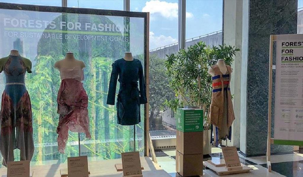 ONU produce ropa de origen forestal favorable con el ambiente