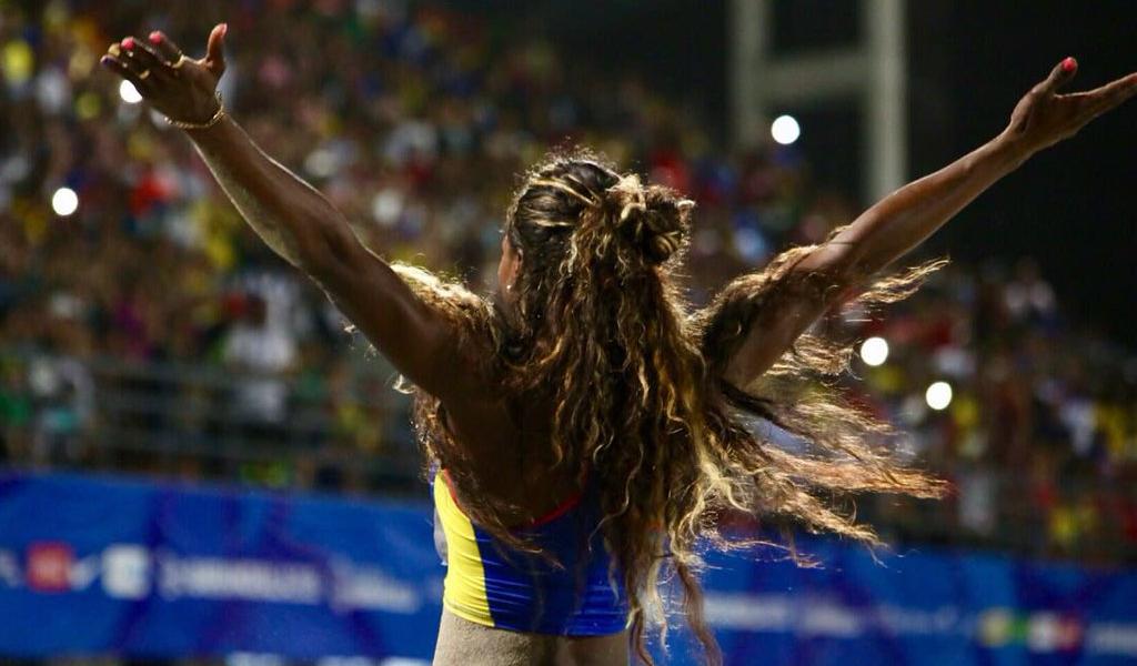 Caterine Ibargüen bailó y ganó en Barranquilla