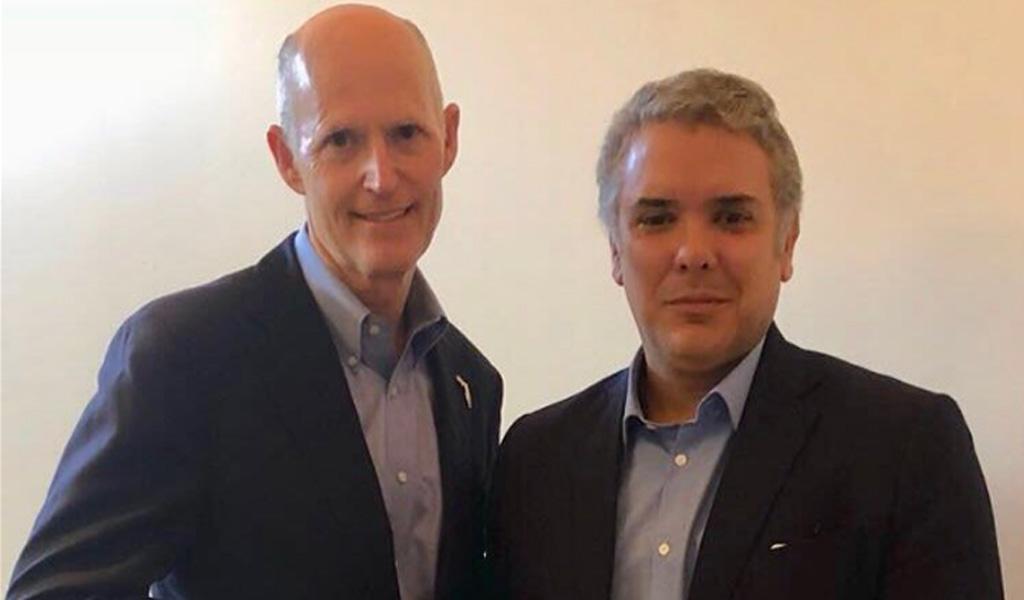 Productiva reunión entre Iván Duque y Gobernador de Florida