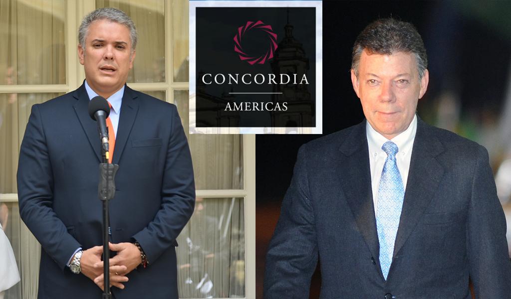 Santos y Duque se reunirán en la Cumbre Concordia