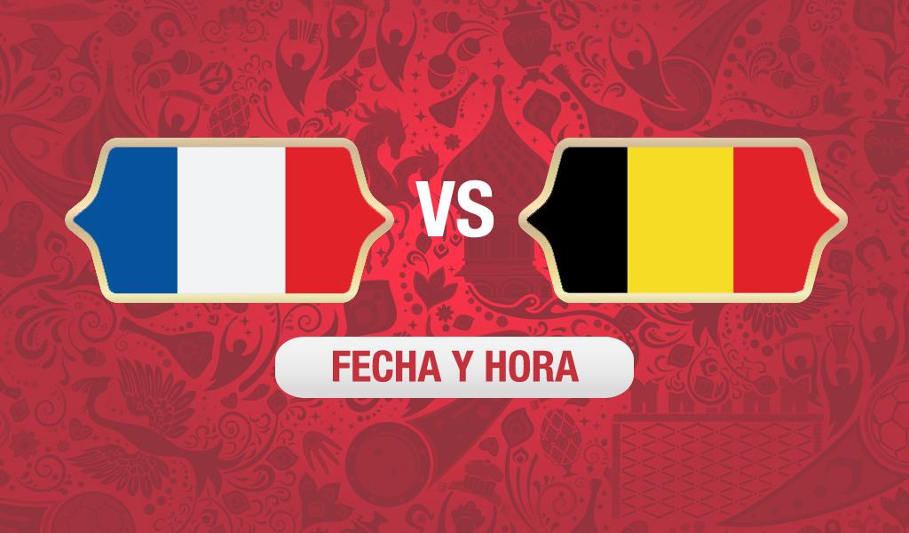 ¿A qué hora y cuándo juega Francia vs Bélgica?
