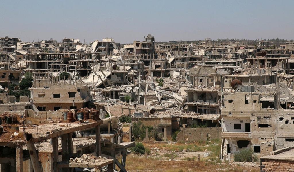 Rebeldes sirios entregaron material bélico en Deraa