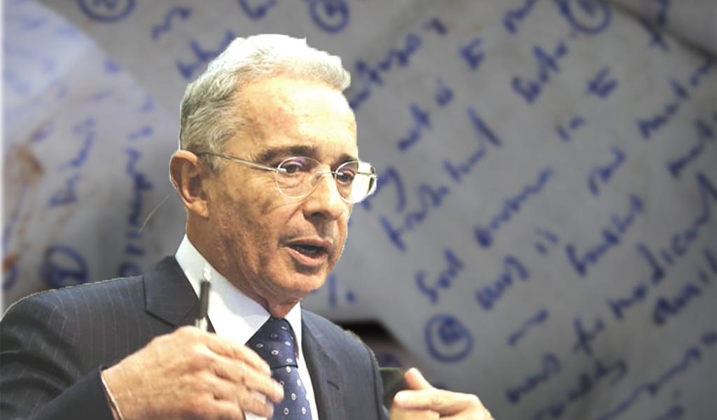 La carta que probaría la inocencia de Álvaro Uribe