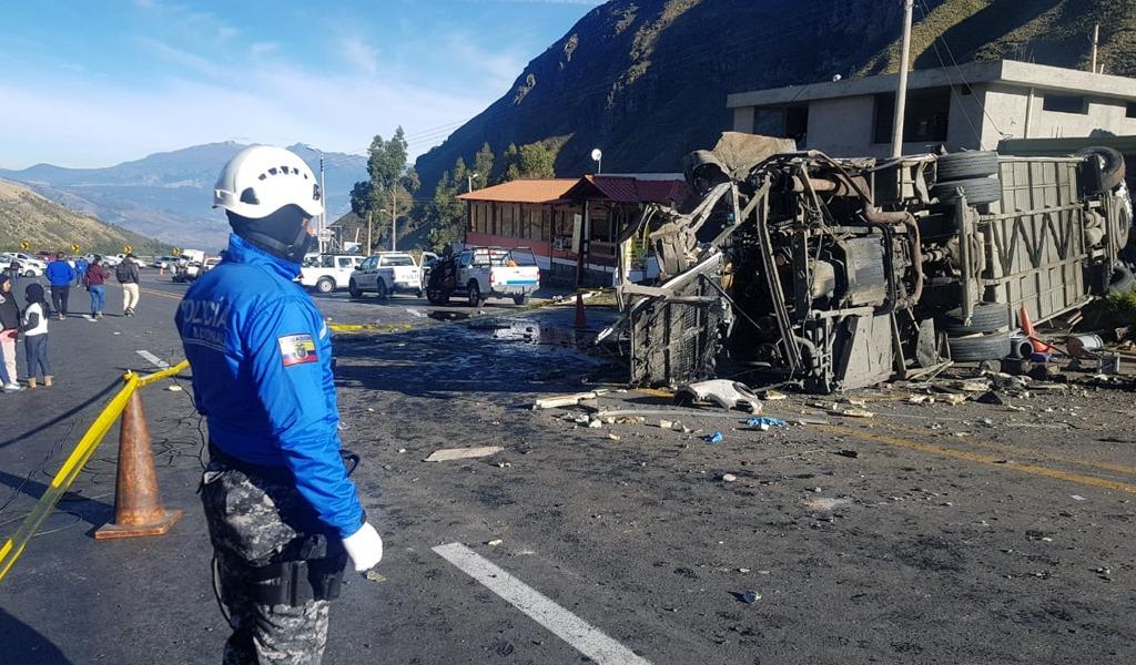 Investigan a empresa por accidente de autobús