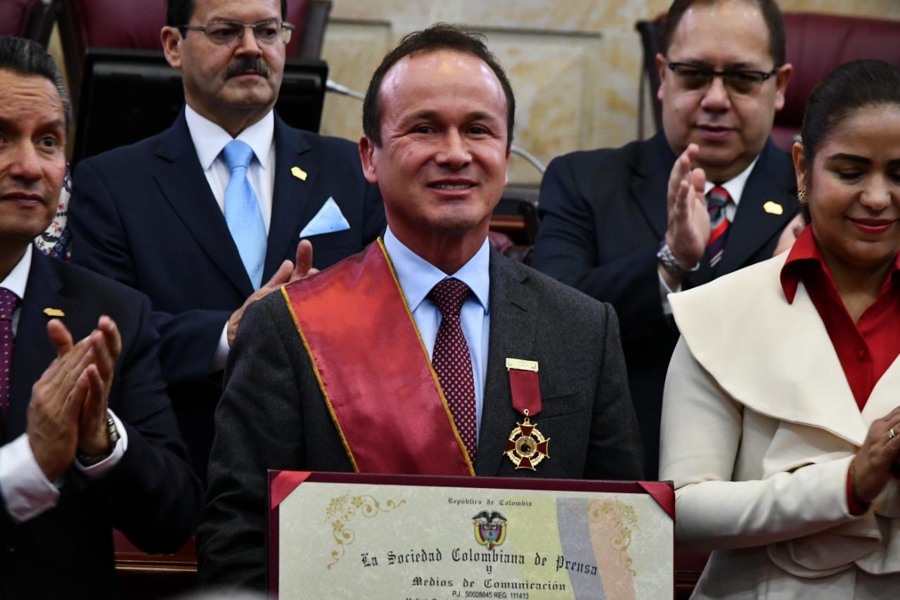 Elkin Castaño, empresario galardonado por la SCP
