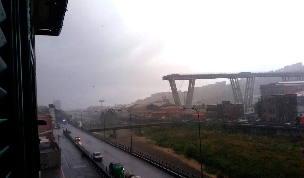 Decenas de heridos tras derrumbe de puente en Italia