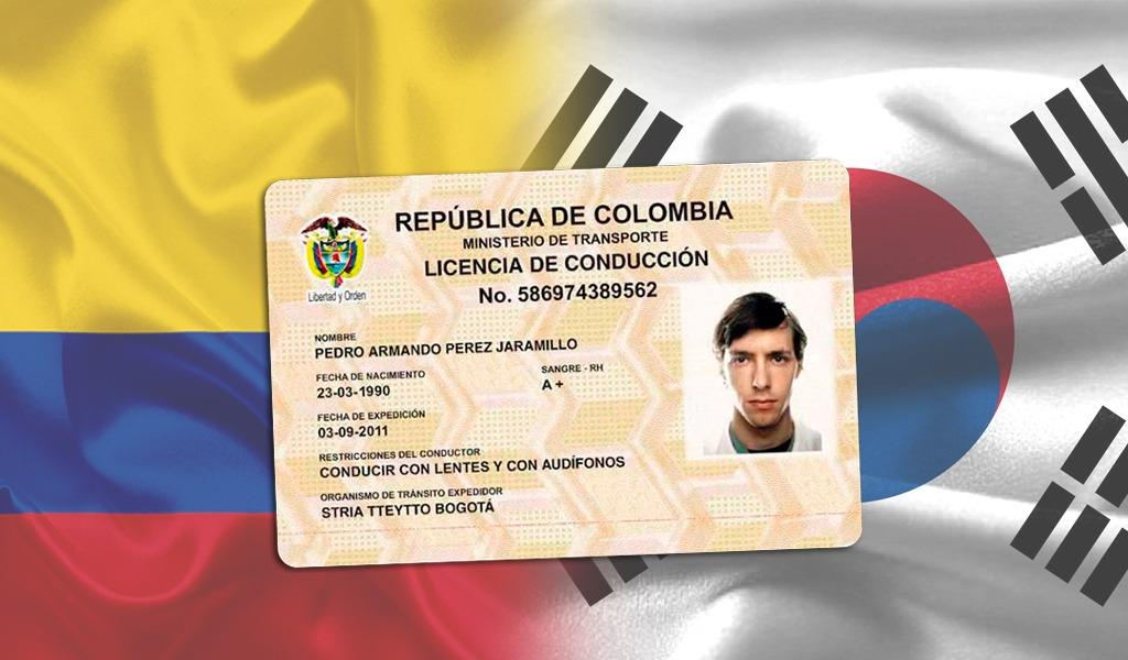 Colombia y Corea del Sur reconocerán licencias de conducción