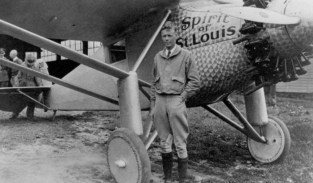 Lindbergh, primer piloto en atravesar el Atlántico