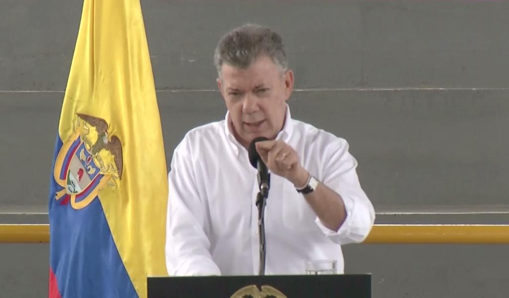 Pronunciamiento de Santos sobre negociación con el ELN