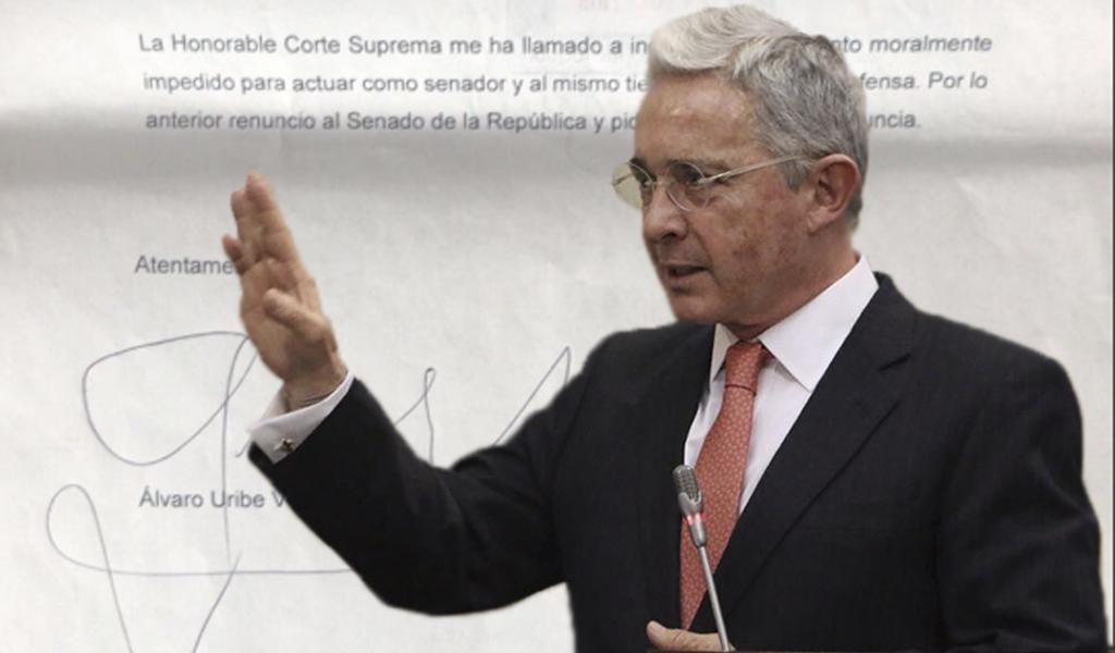 Presidente del Senado no tramitará renuncia de Uribe