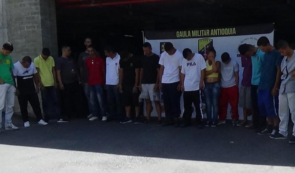Capturan 20 integrantes de 'los Jimmys' en Medellín