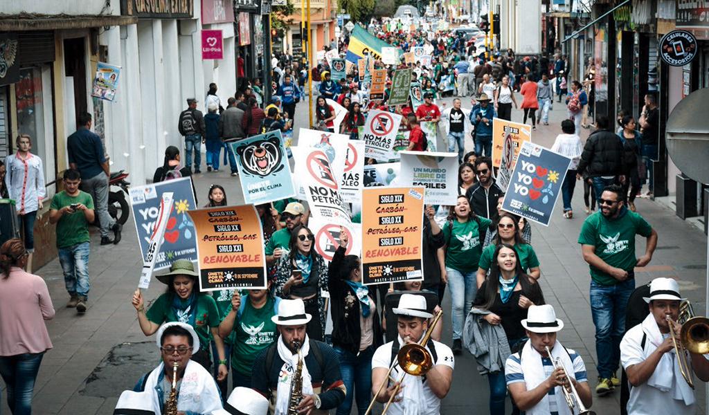 Marcha mundial para frenar el cambio climático