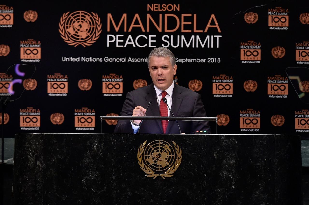Mandela inspira a Duque a construir el futuro