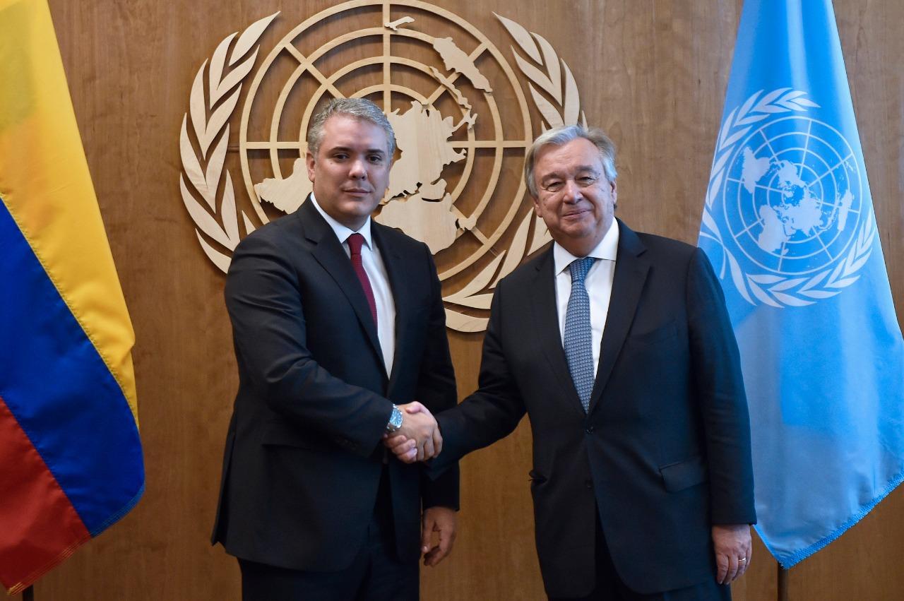 Duque se reunió con Guterres en la ONU