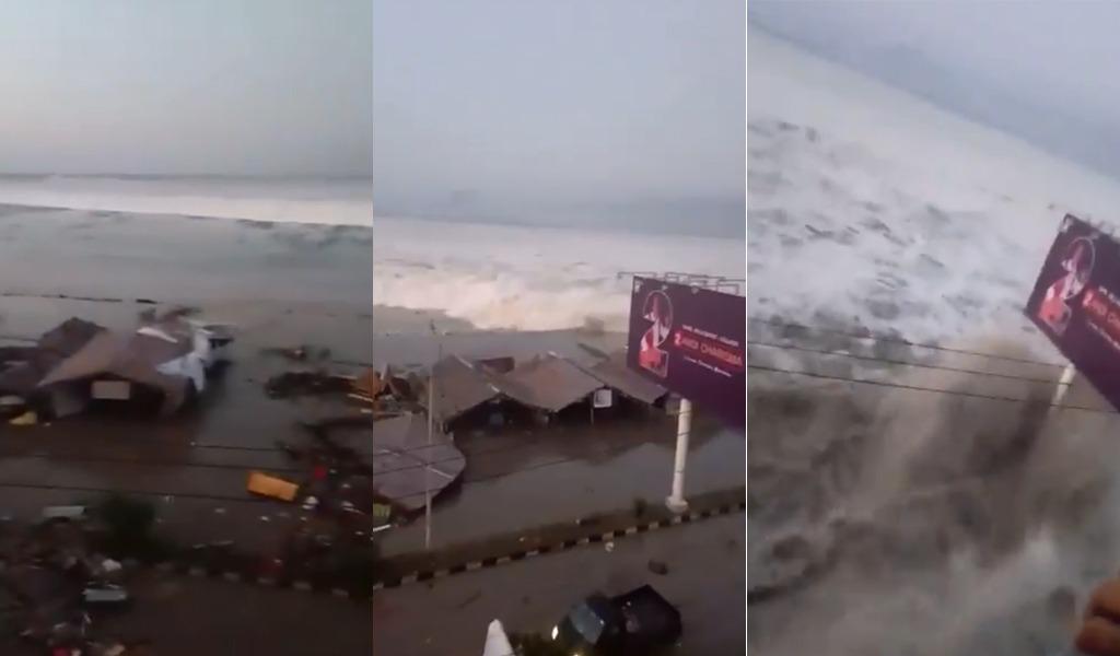 Fuerte tsunami azota a Indonesia tras terremoto