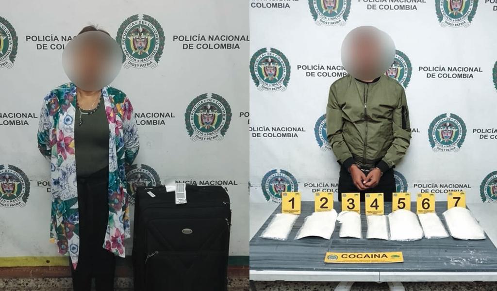 Capturan a pareja que pretendía llevar cocaína a España