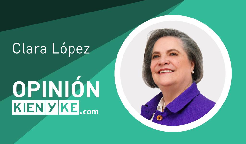 Clara López movilización estudiantil