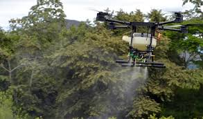 Uso de glifosato con drones en Colombia