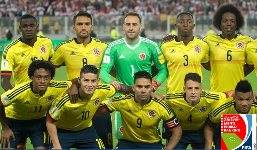 Colombia se mantiene en el ranking de la FIFA