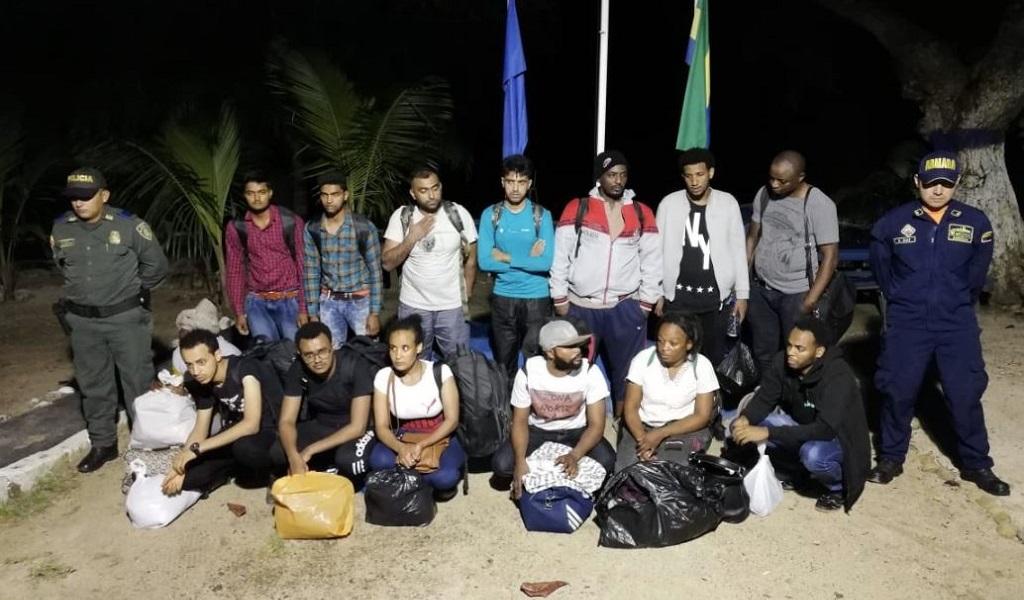 Armada rescató a 14 migrantes en el Golfo de Urabá