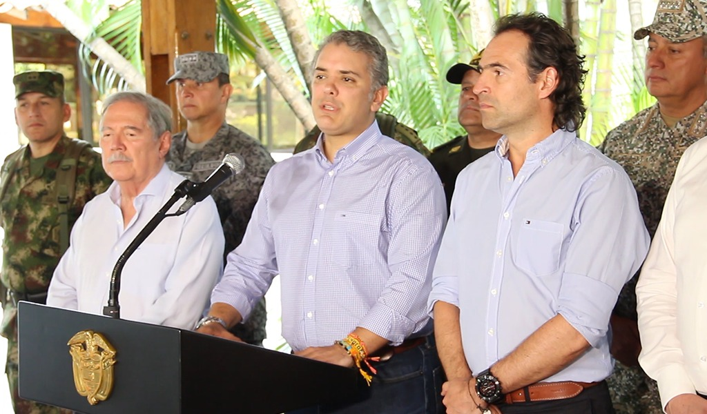 Duque reafirmó su compromiso en seguridad con Medellín