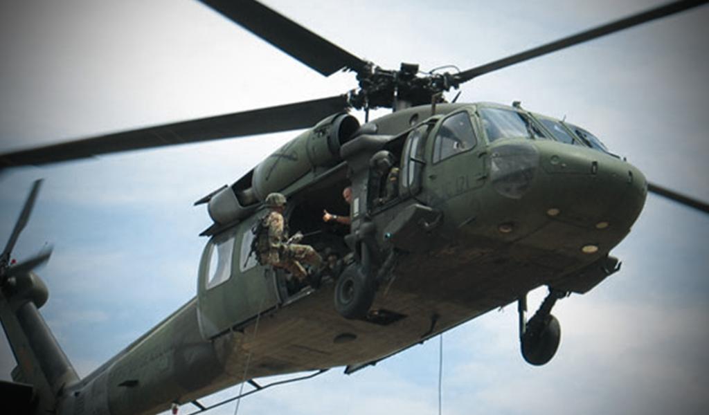 Cuatro militares muertos por caída de helicóptero