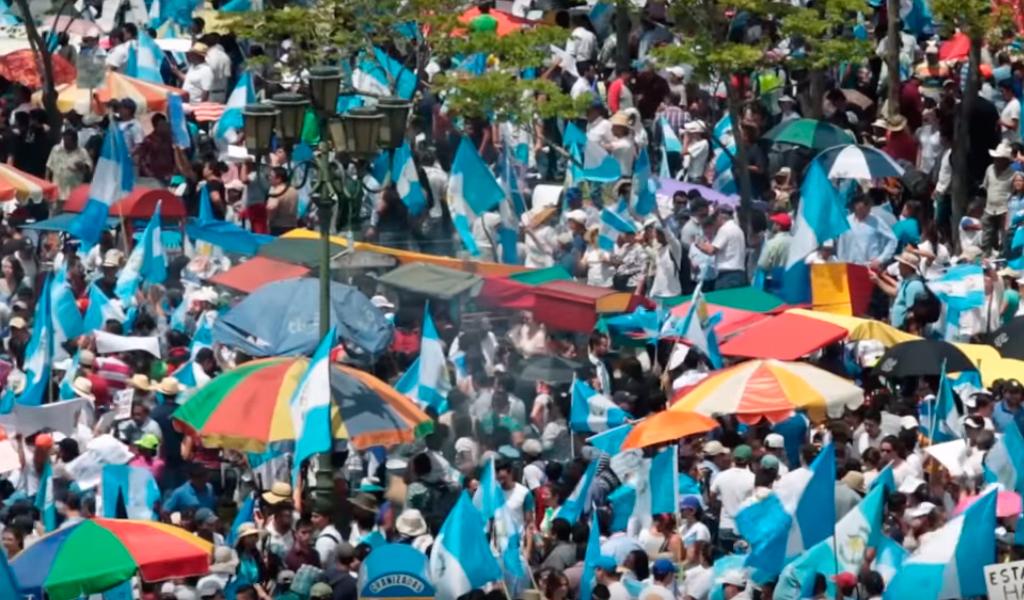 Marchas contra la corrupción en Guatemala
