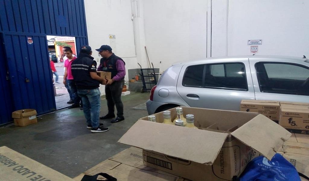 Incautan más de 3.000 unidades de licor en Santander