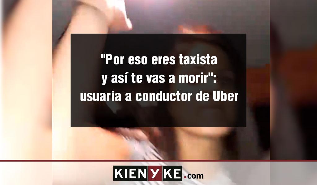 Usuaria de Uber agrede al conductor por no llevarla
