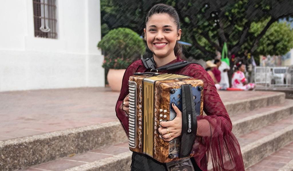 Dayana, una acordeonera en un mundo de hombres