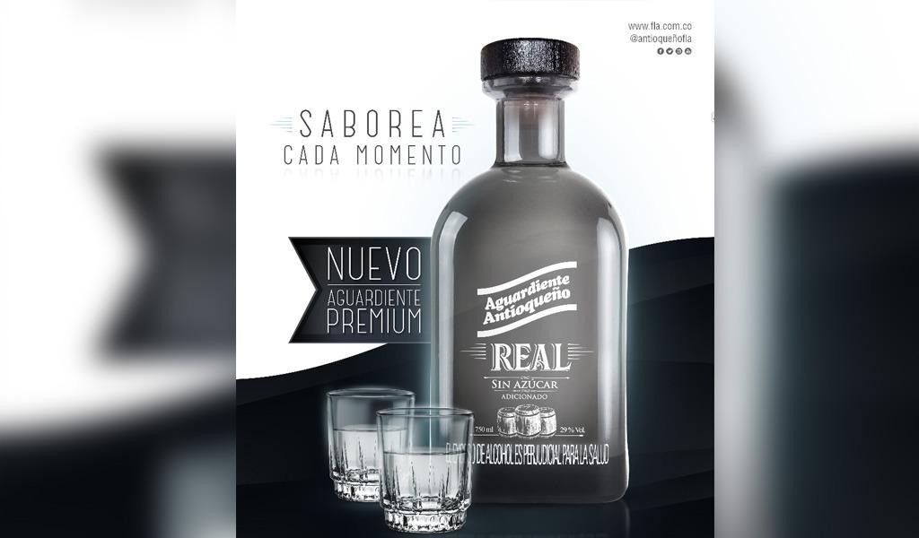 Aguardiente Real, la bebida especial que lanza la FLA