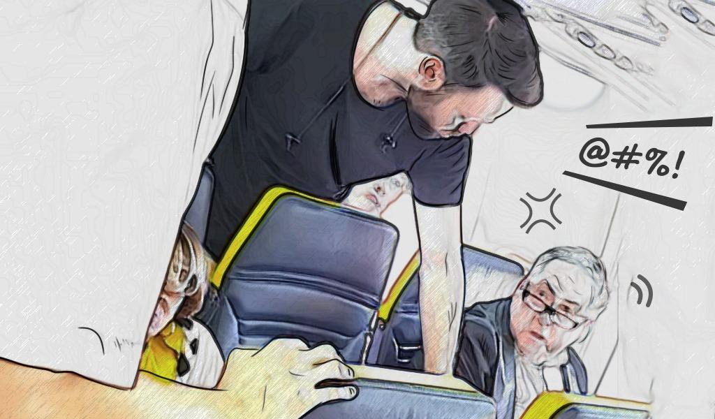 Indignante: la insultan y la obligan a cambiar de asiento