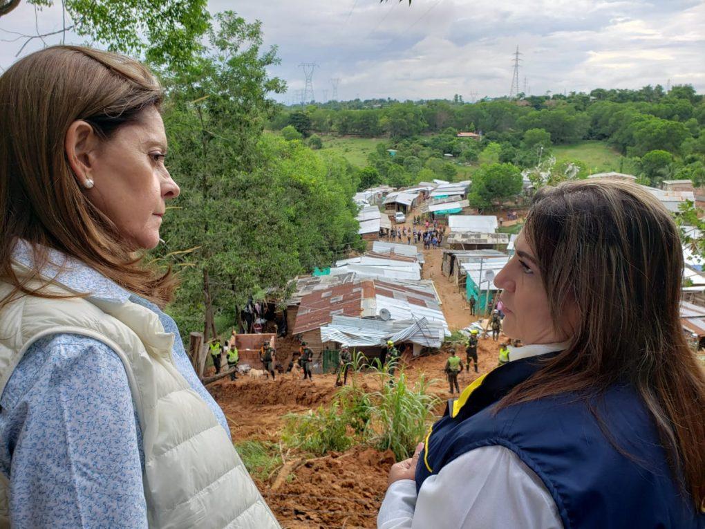 Marta Lucía visita afectados en Barrancabermeja