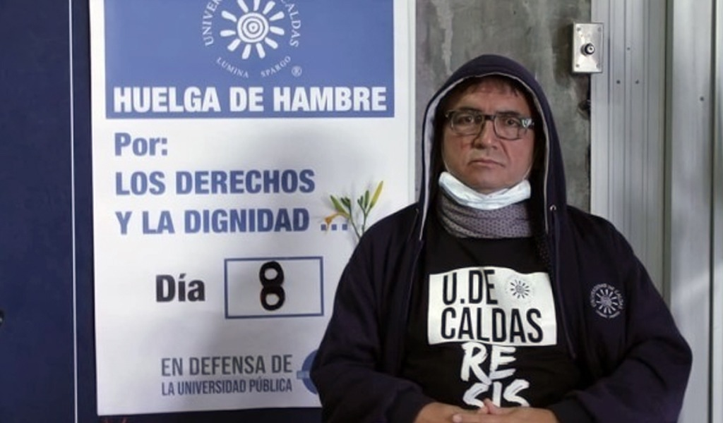 Profesor de U. de Manizales termina huelga de hambre