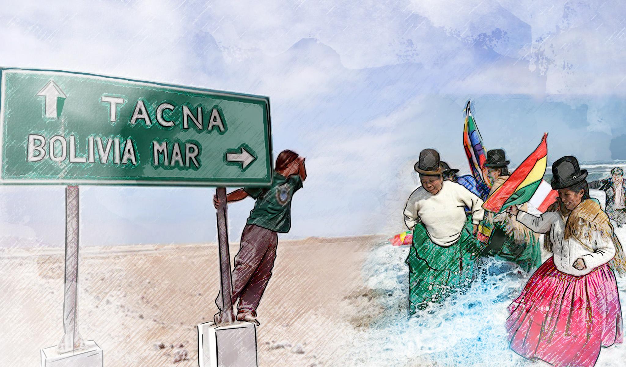 La playa de Bolivia en el olvido