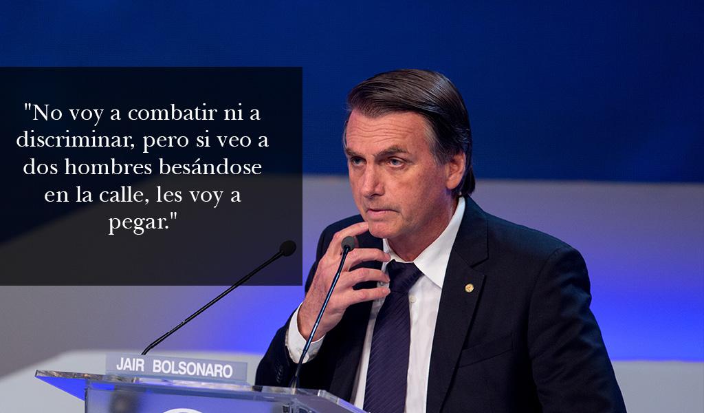 Bolsonaro se acerca a comunidad LGBTI