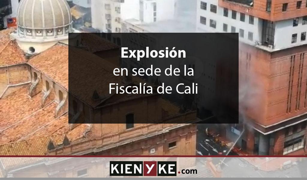 Explosión en la sede de la Fiscalía en Cali no dejó heridos