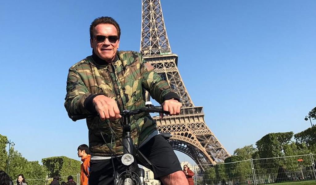 Schwarzenegger y la bicicleta, una nueva pasión