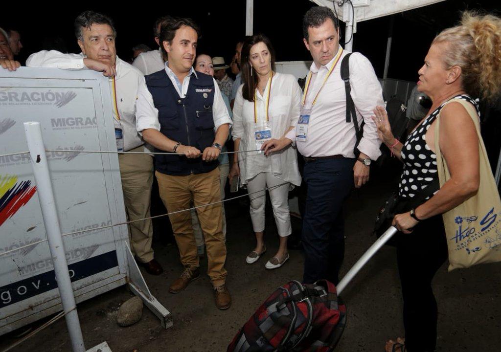Cancillería recorrió la frontera con representantes de la OEA