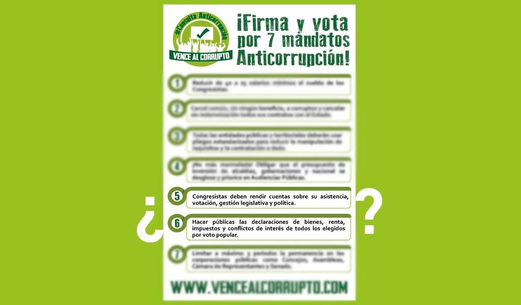 Puntos 5 y 6 de Consulta Anticorrupción a debate