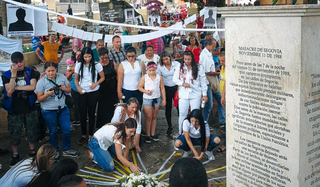 Segovianos conmemoran 30 años de la Masacre