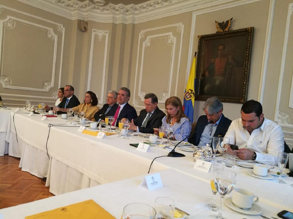 Duque planea su estrategia legislativa para 2019