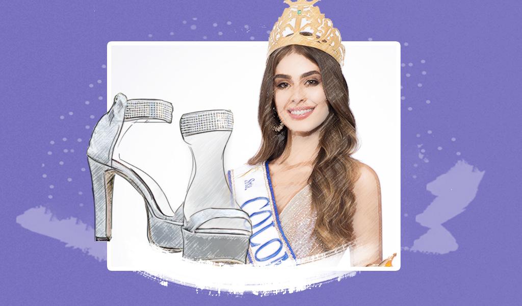 'Joyas' en los pies de la Señorita Colombia